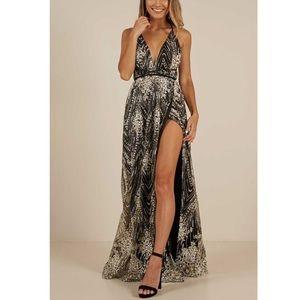 Showpo Black New York Nights Maxi Dress